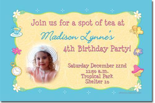 Tea Party Birthday Invitations (Download JPG Immediately)