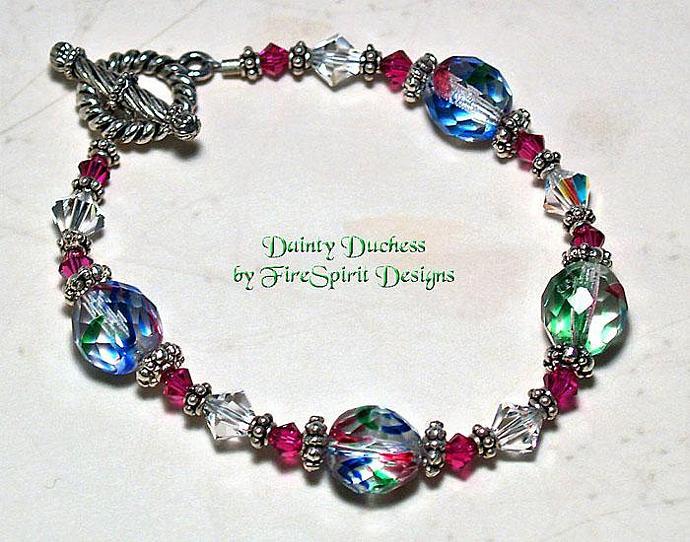 Dainty Duchess- ooak crystal bracelet