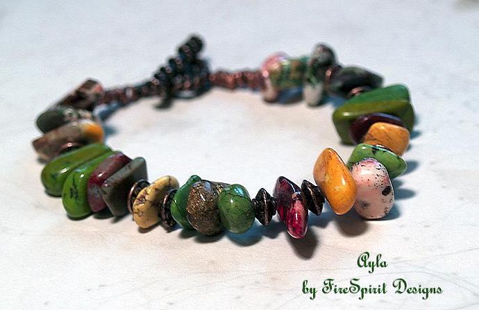 Ayla- artisan ooak bracelet