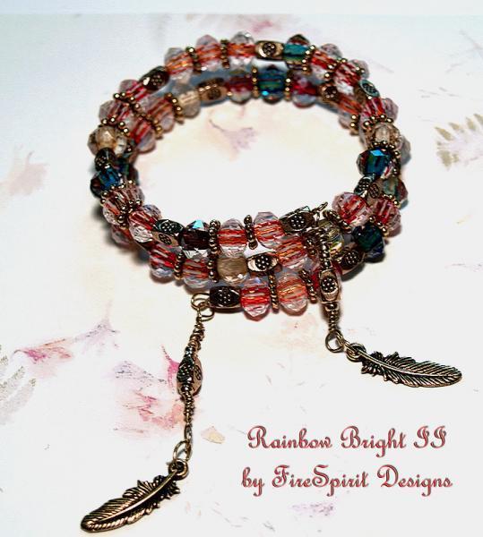 Rainbow Bright II- ooak artisan bracelet