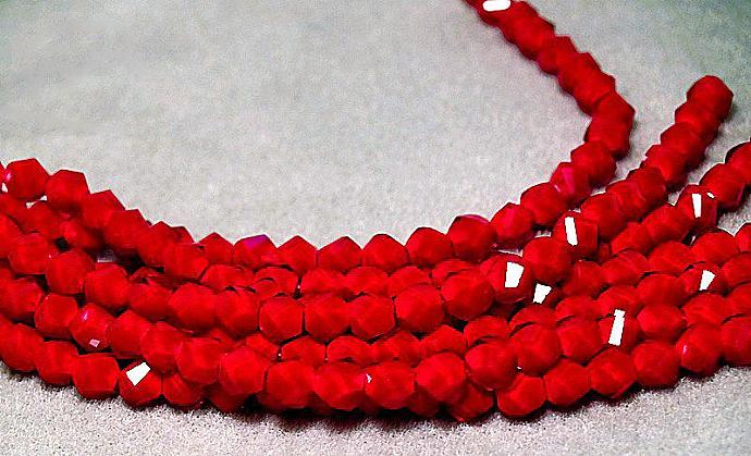 Ruby, Ruby, Ruby- faceted crystal beads