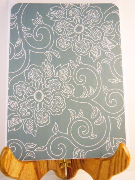Set of 8 Chrysanthemum Flat notecards