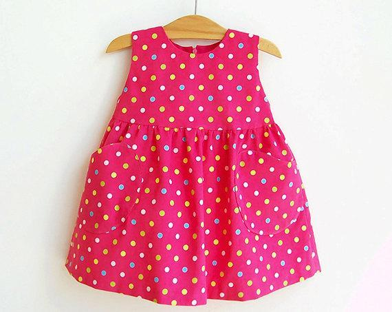 Yummy Dotted Baby Girl Overall Dress Sewing Puperita