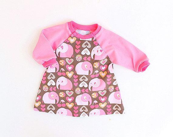 Girly ELEPHANTS Baby DRESS sewing pattern Pdf, by PUPERITA on Zibbet