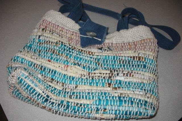 Large rag woven purse