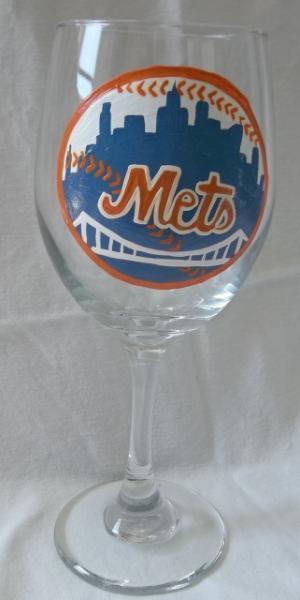 New York Mets 20oz Wine Glass