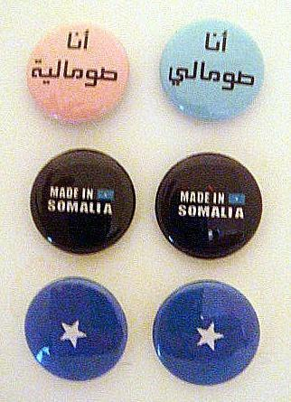 *Proud Somalian* Six 1 inch Button Pins