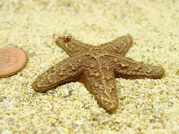 Sea Star Pendant - 45mm copper-tone handmade
