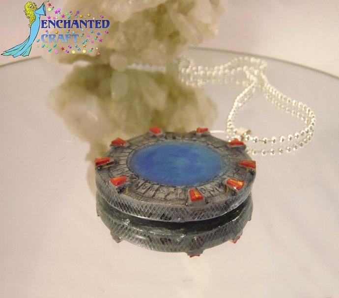 STARGATE Poly-clay necklace for Stargate SG1 & Atlantis Fans