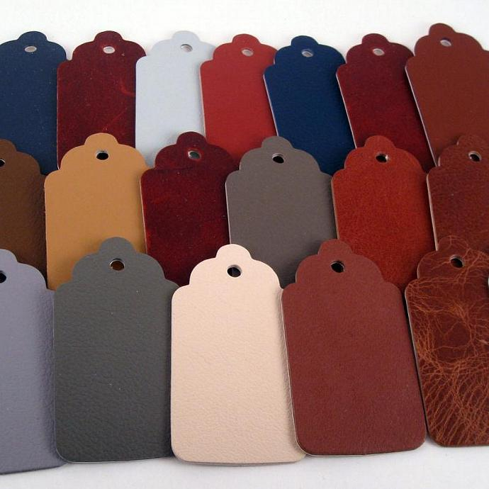 20 Assorted Color Designer Leather Tags