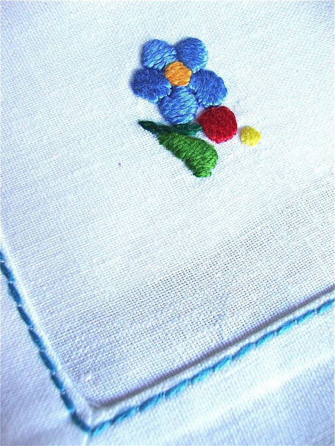 handmade Hungarian small linen napkins