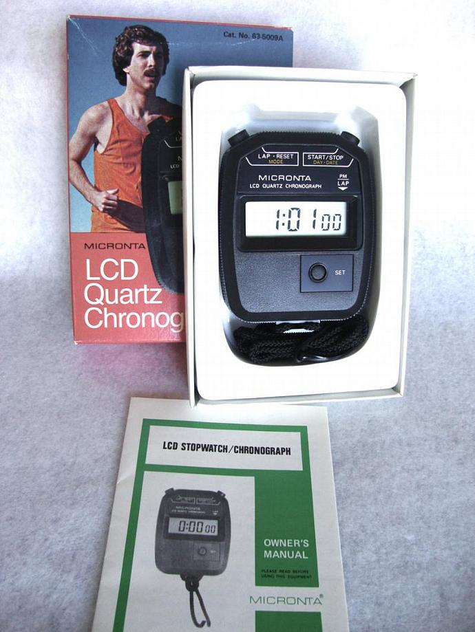 LCD stopwatch/chronograph by Micronta