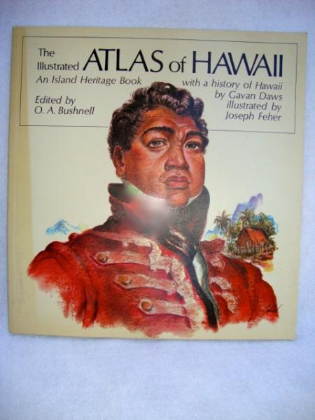 vintage illustrated Atlas of Hawaii, 1989