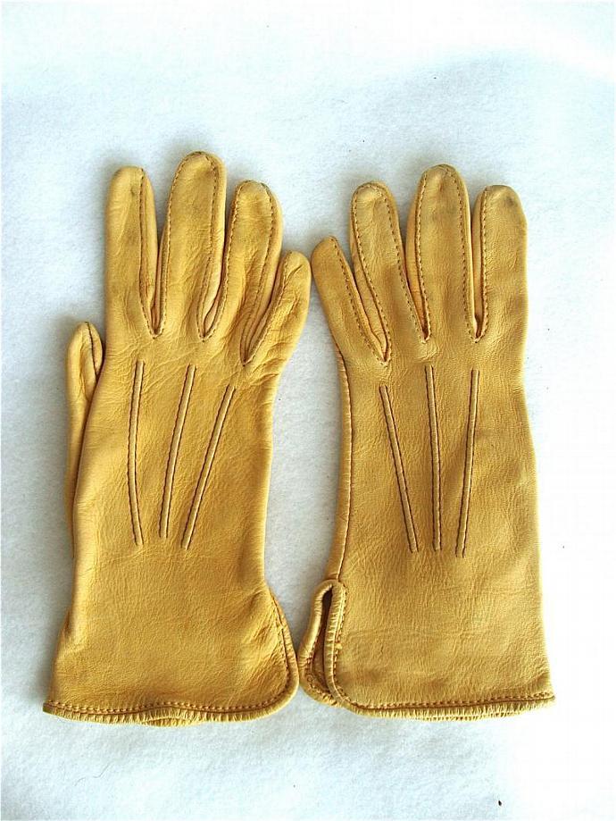vintage natural hand stitched calfskin leather gloves