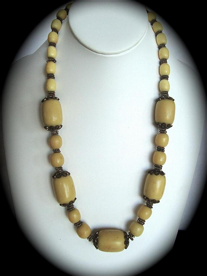 vintage antique bead necklace from the 1930's