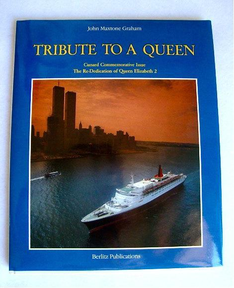 vintage Queen Elizabeth cruise ship Cunard commemorative issue first edition