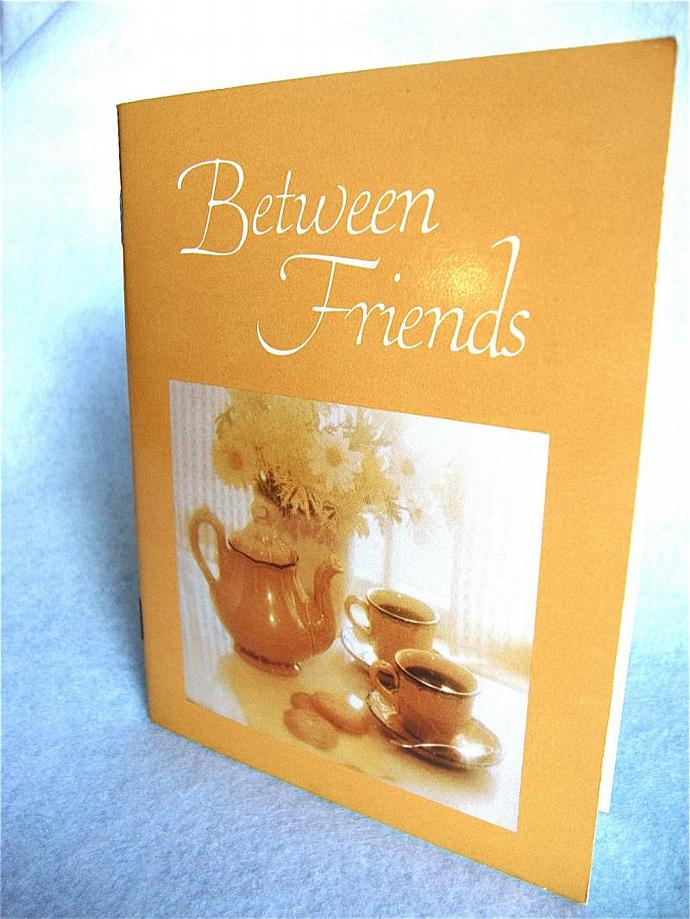 vintage illustrated book, Between Friends