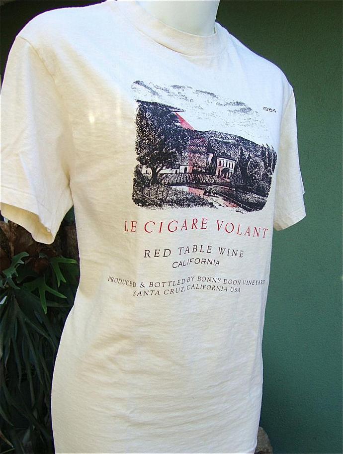 vintage Bonny Doon 1984 Le Cigare t shirt