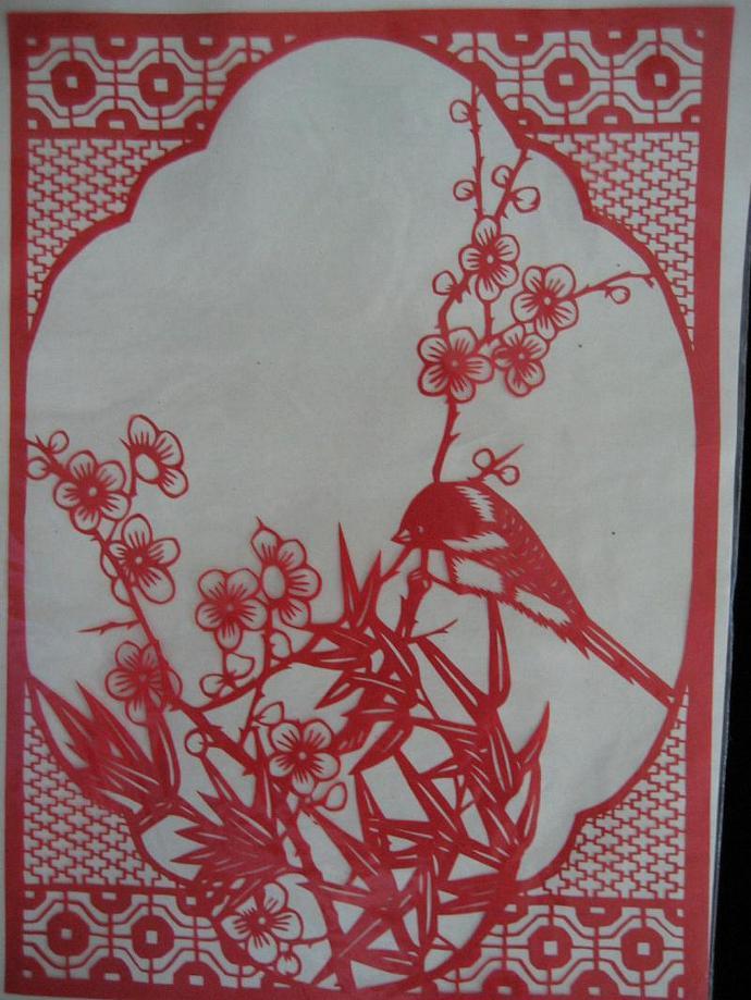 vintage classic Chinese  scissor Art