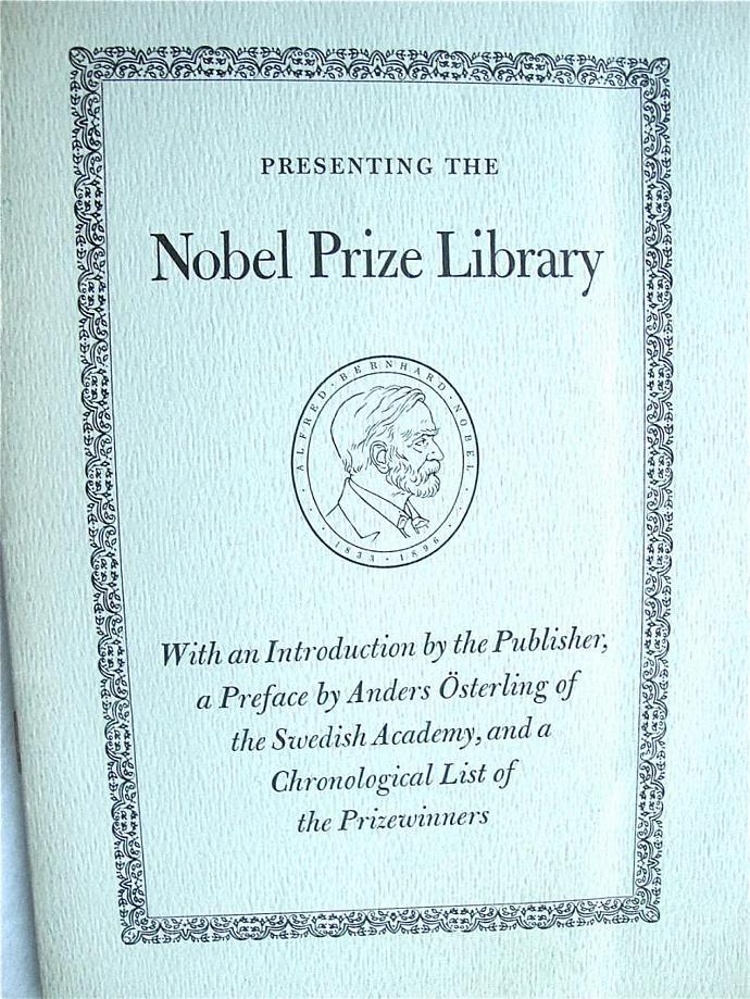 vintage Nobel Prize Library keepsake, 1971