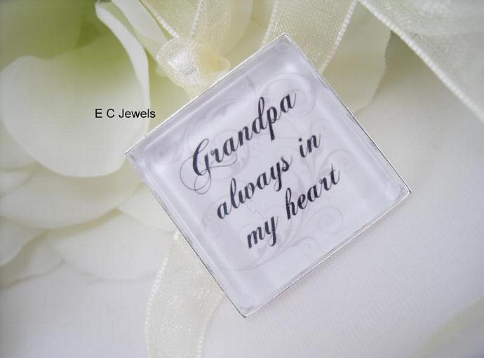 Custom Memorial Keepsake Bouquet Charm