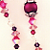 Purple Fuschia Persuasion Earrings