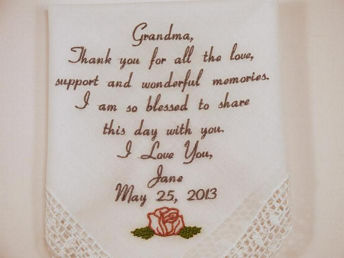 Gift For Grandma Wedding Embroidered By Napaembroidery On