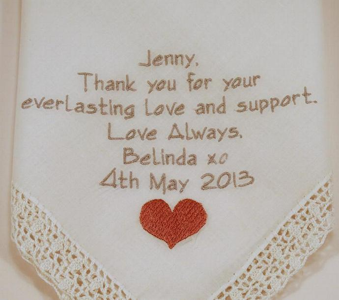 Brides Maid Of Honor Gift Wedding By Napaembroidery On Zibbet