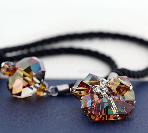 231690c12800 6x Swarovski Elements Crystal Pendants Lot  Helix by iProy on Zibbet