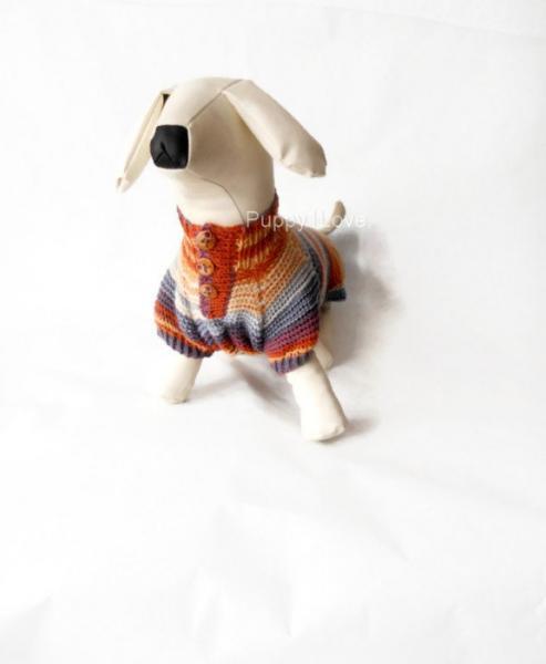 Dog Clothes dachshund Dog Sweater Warm Hand Knitting  medium dog  For Pets