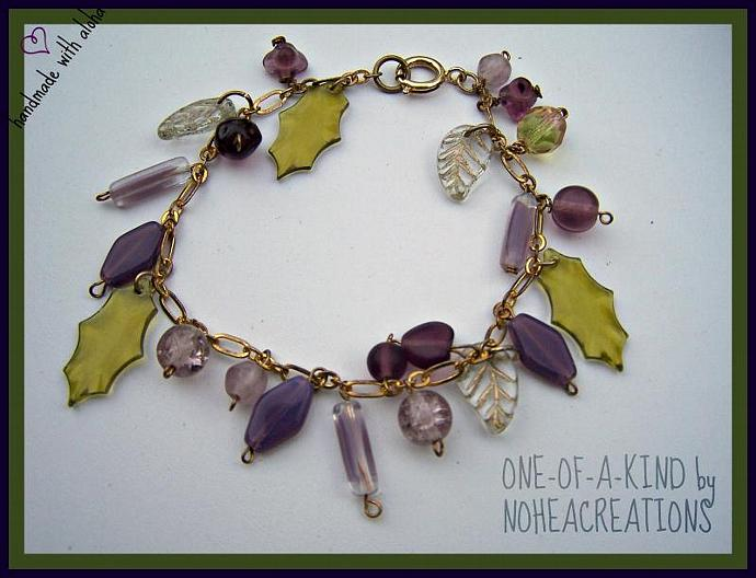 #B205 - NoheaCreations MARGOT ( a glass bead charm inspired bracelet)