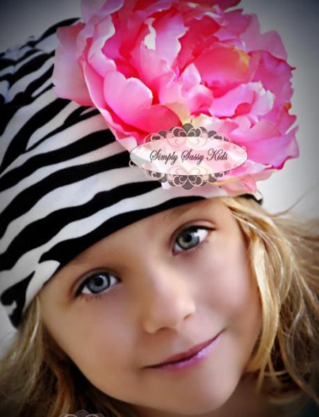 Zebra Infant/Toddler Lycra Cotton Stretch Beanie Cap