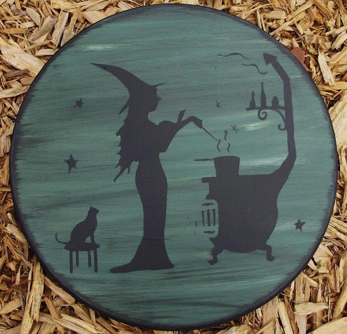 Primitive Witch Stovetop stove oven Burner Covers Halloween Decorations