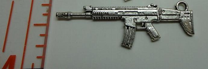 Rifle Charm - Silver