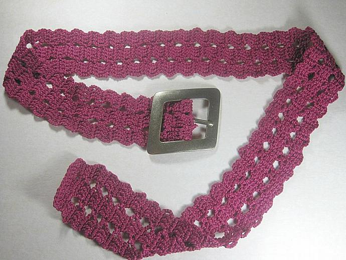 A Dark Red Crochet Belt In Bruge Lace By Shuvalaccessories On Zibbet