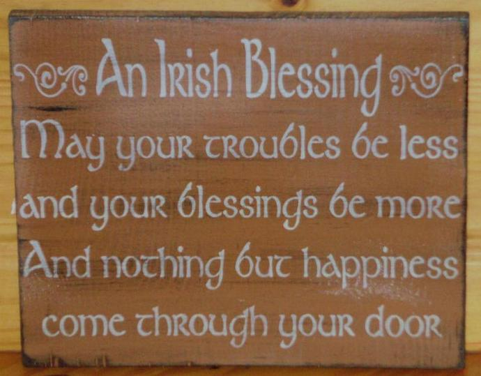 Irish Blessings Primitive Signs weddings wedding gifts Plaques Celtic St.