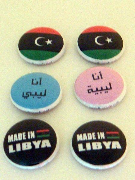 *Proud Libyan* Six 1 inch Button Pins