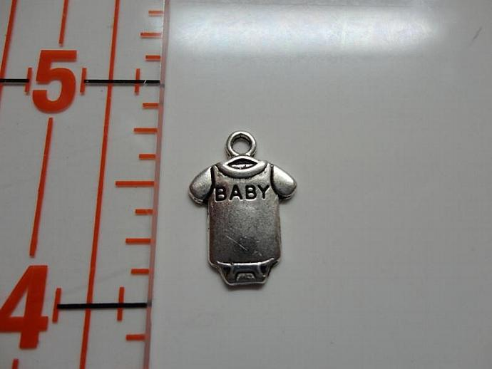 Baby Onesie Charm - Silver