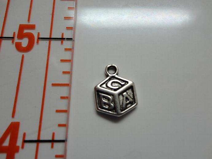 Baby Block Charm - Silver