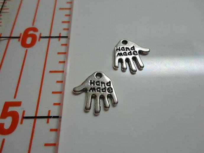 Hand Made Hand Charm - Silver