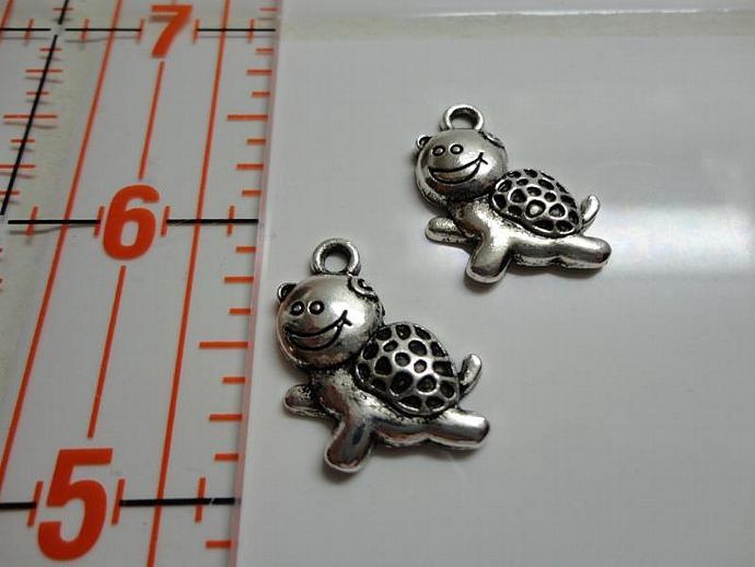 Snail Charm - Silver