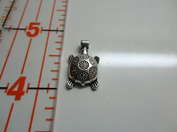 Turtle Charm - Silver