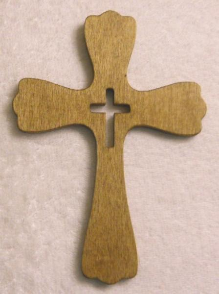 Fancy Handcrafted Wood Cross