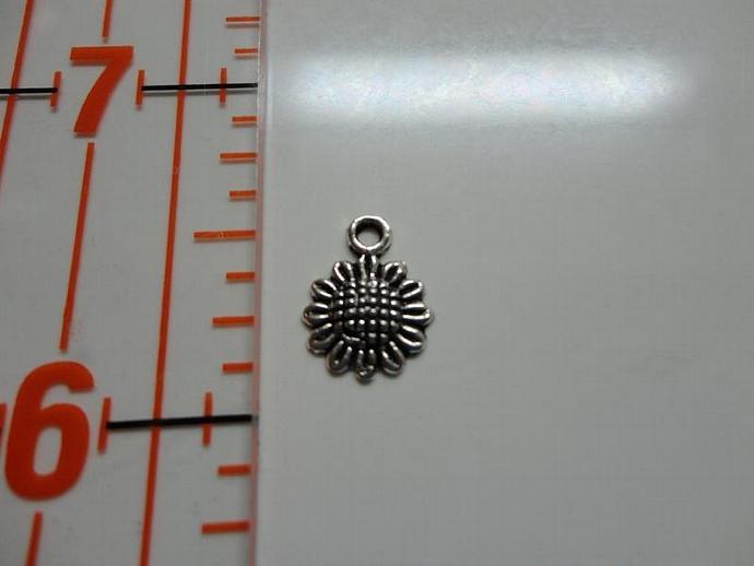 Sunflower Charm - Silver