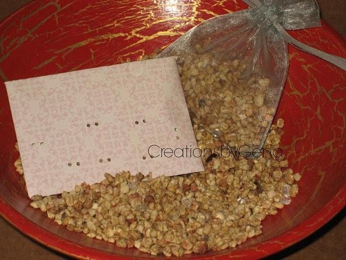 Cucumber Melon Scented Cellulose ground corn cob and aroma beads Sachet