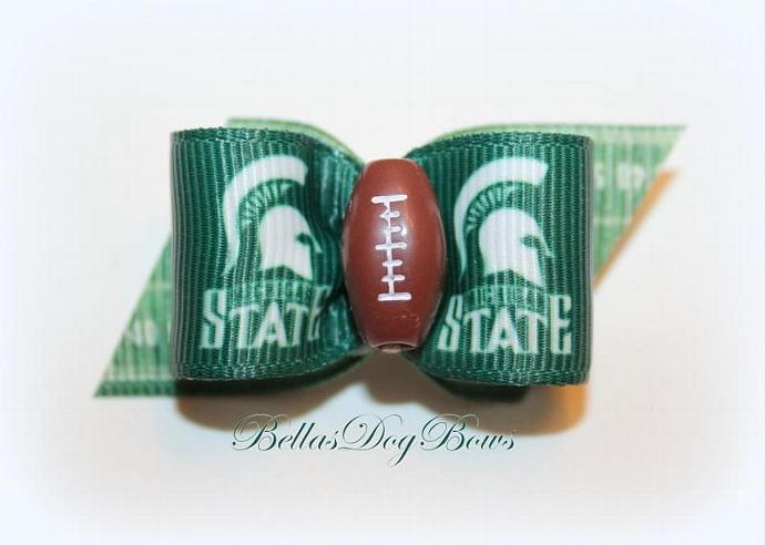 7/8  -  Football Inspired Dog Bow