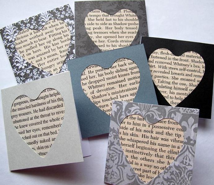 50 Shades of Grey Slightly Naughty cards (set of 10) / Romance novel mini cards