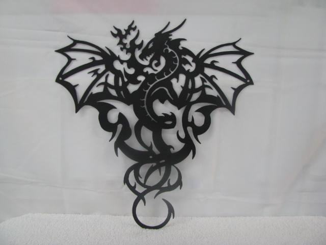 Dragon 2 Metal Wall Yard Art Silhouette