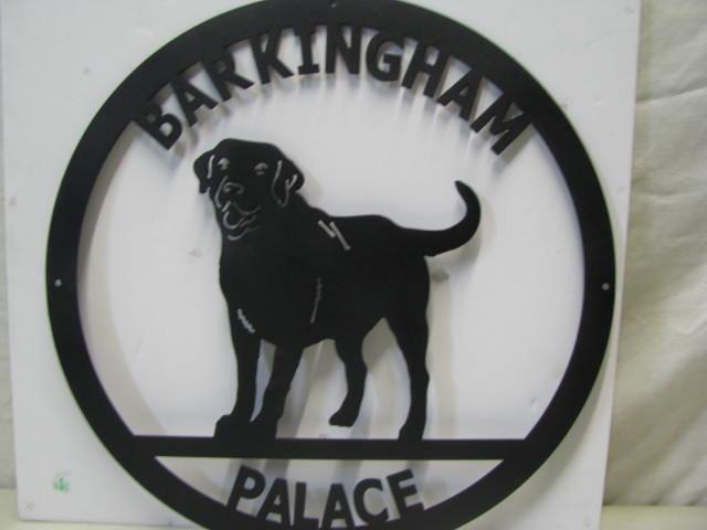 Custom Metal Yard Art Doghouse Sign