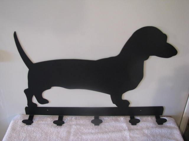 Dachshunds Coat Rack Metal Wall Art Dog Silhouette